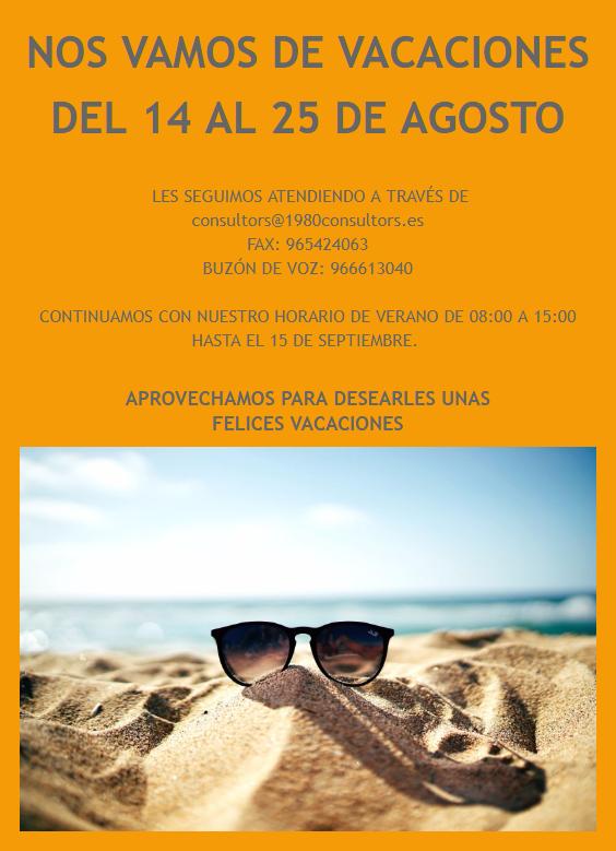 Vacaciones Verano Consultors